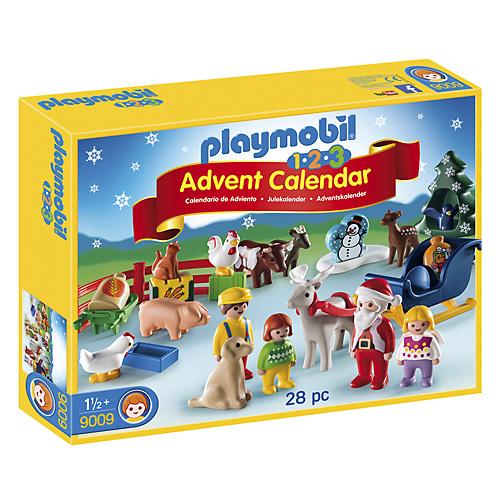 Adventní kalendář Playmobil 1.2.3 Vánoce na statku, 28 ks