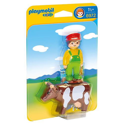 Farmář s kravičkou Playmobil 1.2.3, 2 ks