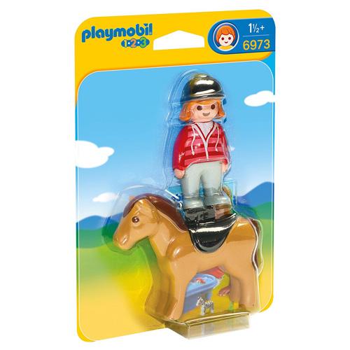 Jezdkyně s koněm Playmobil 1.2.3, 2 ks