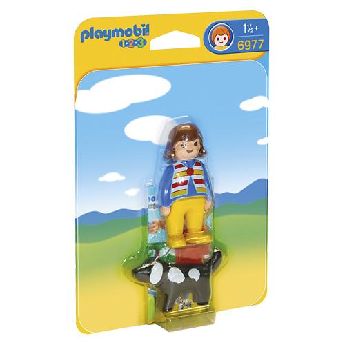 Holčička s pejskem Playmobil 1.2.3, 2 ks