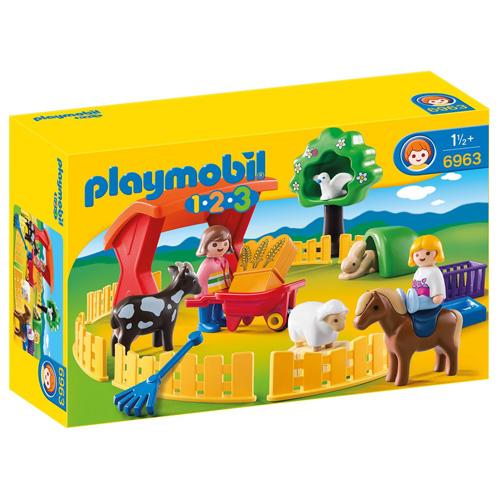 Výběh domácích zvířat Playmobil 1.2.3, 25 ks