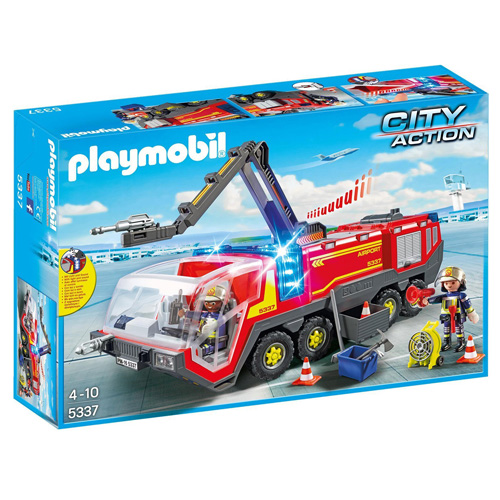 Letištní hasičský vůz Playmobil Hasiči, 86 dílků