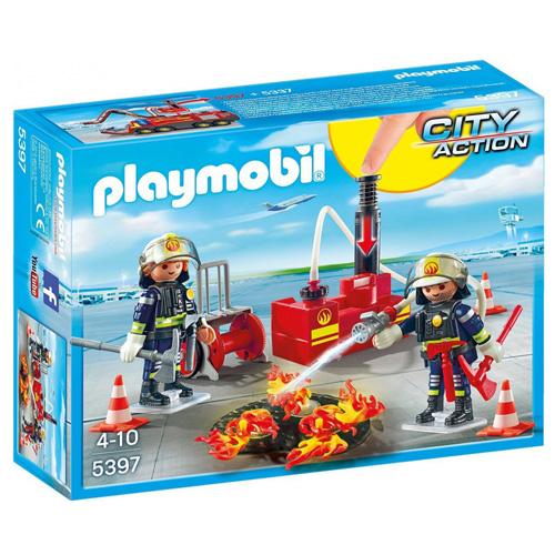 Zásah hasičů s vodní pumpou Playmobil Hasiči, 28 dílků