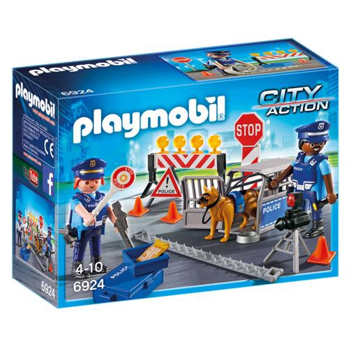 Policejní zátaras Playmobil Policie, 30 dílků
