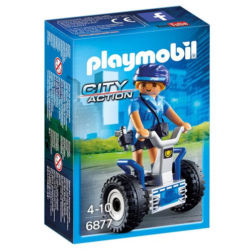 Policistka na dvoukolce Playmobil Policie, 8 dílků