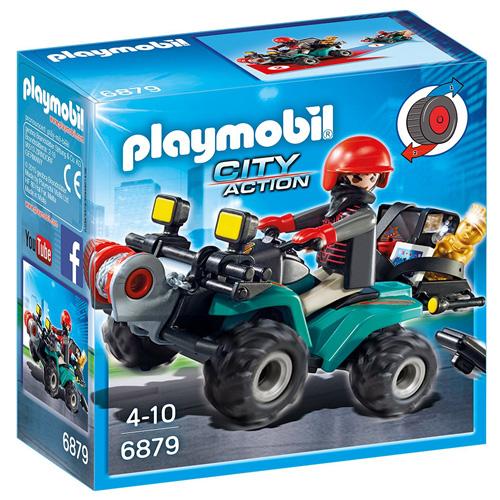 Zloděj na čtyřkolce Playmobil Policie, 15 dílků