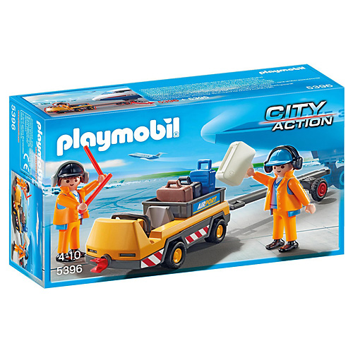 Letištní vozík Playmobil Život ve městě, 15 dílků
