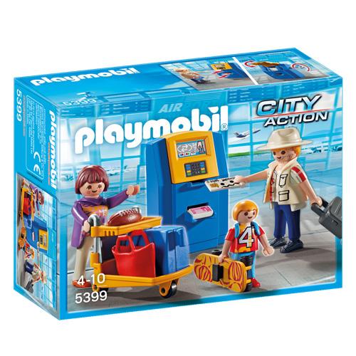 Rodina u check-in kiosku Playmobil Život ve městě, 20 dílků