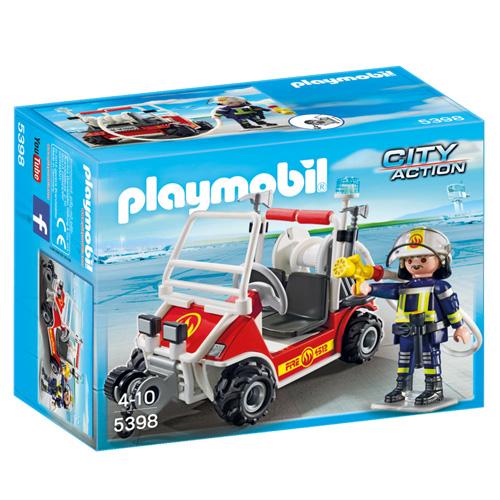Hasičská čtyřkolka Playmobil Hašiči, 18 dílků
