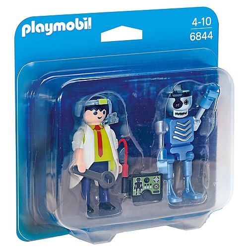 Duo Pack Profesor a robot Playmobil TOP agenti, 8 dílků
