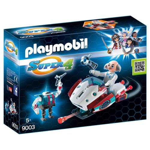 Skyjet s Dr. X a Robotem Playmobil Super 4, 32 dílků