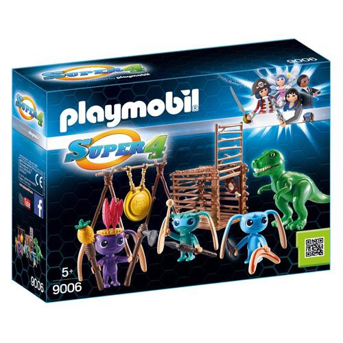 Bojovníci Alien s pastí na T-Rexe Playmobil Super 4, 34 dílků