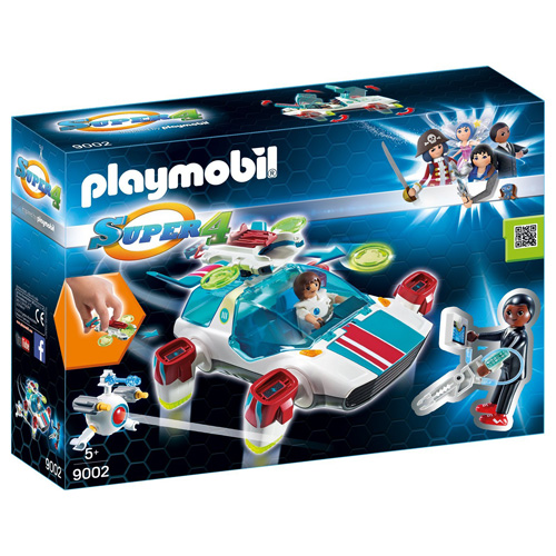 FulguriX s agentem Genem Playmobil Super 4, 45 dílků
