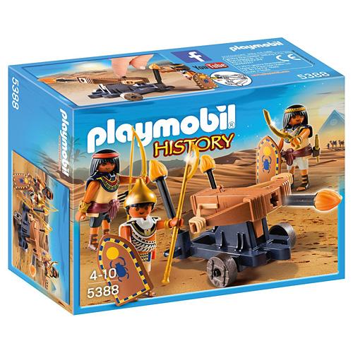 Egypťané s ohňovým samostřílem Playmobil Římané a Egypťané, 30 dílků