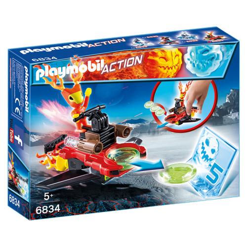 Sparky s odpalovačem Playmobil Sport a akce, 6 dílků