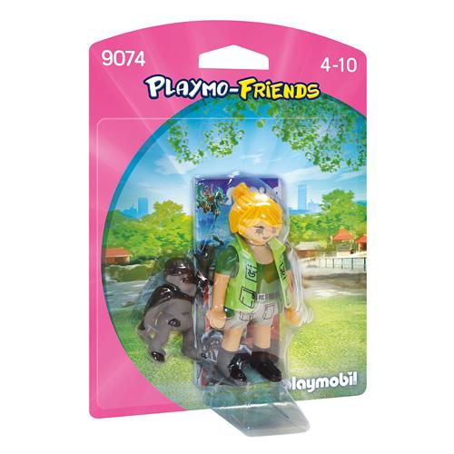 Ošetřovatelka s gorilím mládětem Playmobil Zoo, 4 dílky