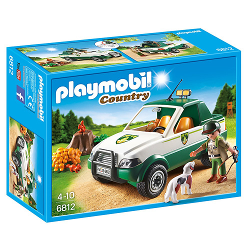 Hajný s pick-upem Playmobil Statek, 39 dílků