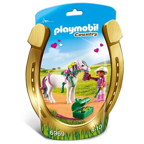 """Zdobení poníků """"Srdíčko"""" Playmobil Jezdecký dvůr, 10 dílků"""