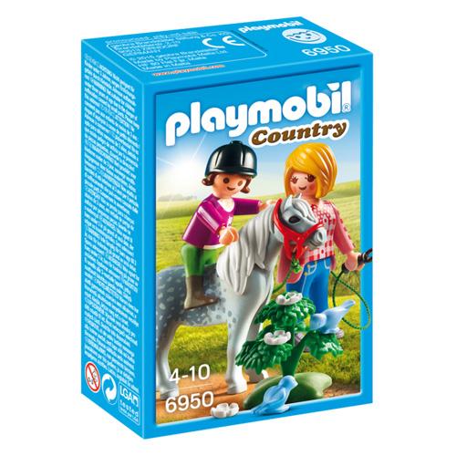 Procházka s poníkem Playmobil Jezdecký dvůr, 10 dílků
