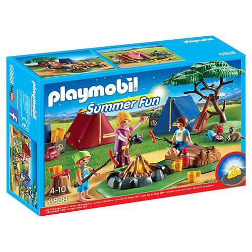 Stanový tábor s táborákem Playmobil Prázdniny, 34 dílků