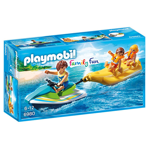 Vodní skútr s banánovým člunem Playmobil Prázdniny, 12 dílků