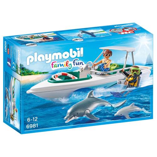 Sportovní člun s potápěči Playmobil Prázdniny, 20 dílků