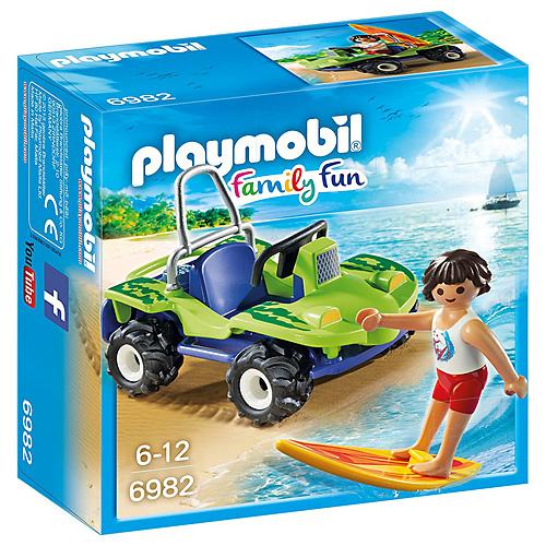 Surfař s plážovou buginou Playmobil Prázdniny, 20 dílků