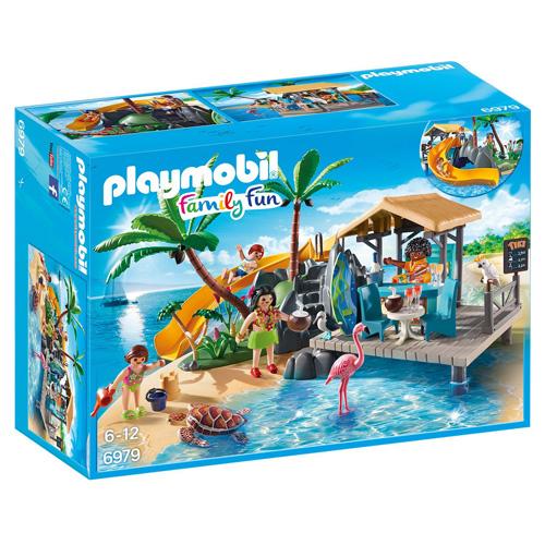 Karibský ostrov s plážovým barem Playmobil Prázdniny, 34 dílků
