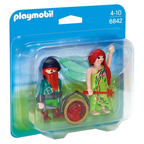 Duo Pack Víla s trpaslíkem Playmobil Víly a jednorožci, 12 dílků