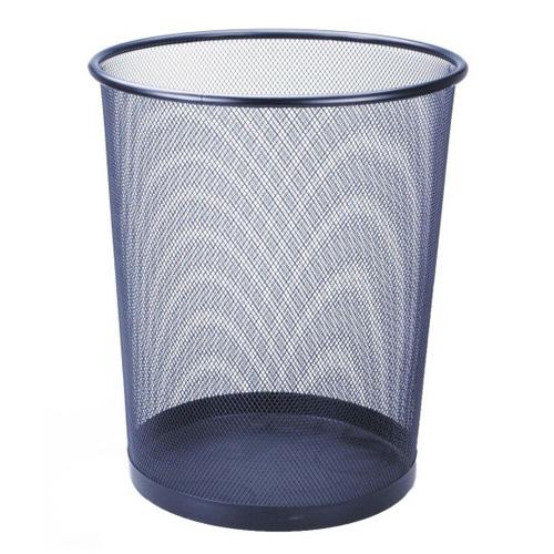 Odpadkový koš Idena Tmavě modrý, kovový, 36 cm