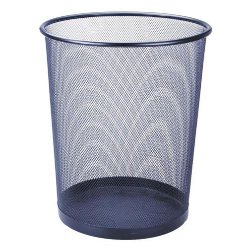 Odpadkový koš Idena Tmavě modrý, kovový, 30 cm