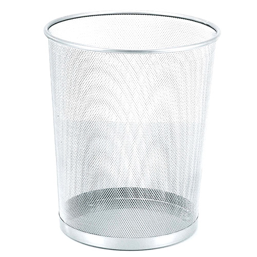 Odpadkový koš Idena Stříbrný, kovový, 30 cm