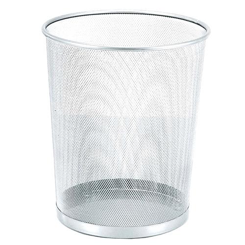 Odpadkový koš Idena Stříbrný, kovový, 36 cm