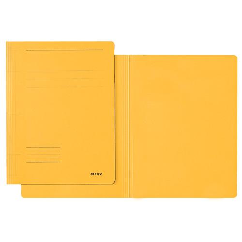 Kartonové desky Leitz A4, bez gumiček, žluté