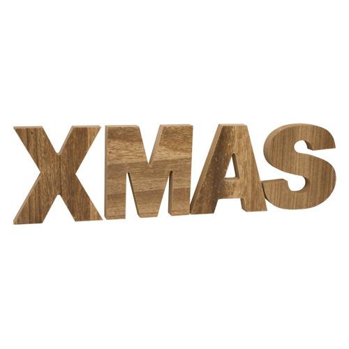 Dřevěný nápis Idena XMAS, 14 x 50 x 2 cm