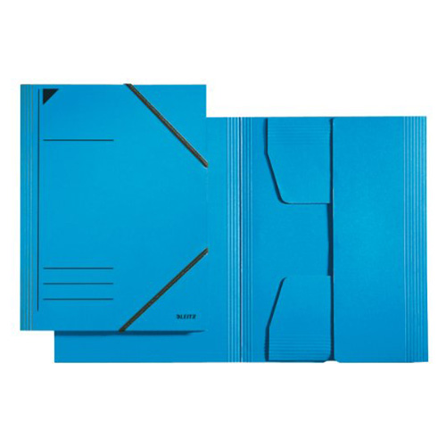 Kartonové desky Leitz A4, s gumičkami, modré