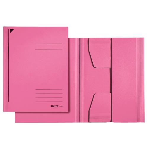 Kartonové desky Leitz A4, bez gumiček, růžové