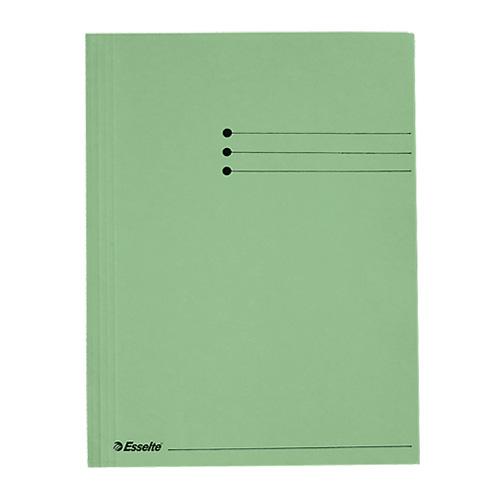 Desky na dokumenty Esselte A4, kartonové, zelené