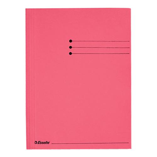Desky na dokumenty Esselte A4, kartonové, červené
