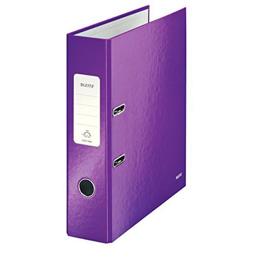Pákový pořadač Leitz 180° Wow, A4, 8 cm, fialový