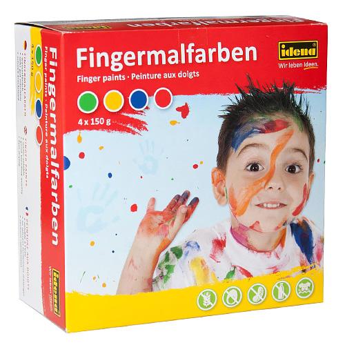 Prstové barvy Idena 4 x 150 g