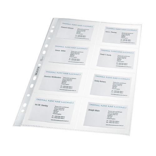 Náhradní listy do vizitkáře Leitz A4, 10 ks, 8 kapes