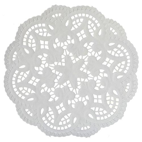 Staufen Tassendeckchen 10cm weiß