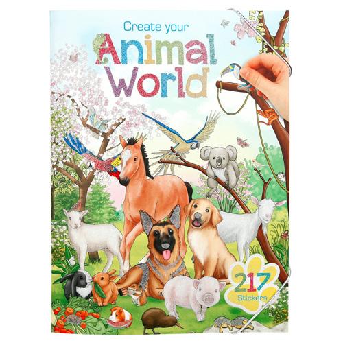 Kreativní sešit Create Your Svět zvířat, 217 samolepek