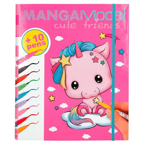Omalovánky Manga Model Roztomilý přátelé, 10 fixů