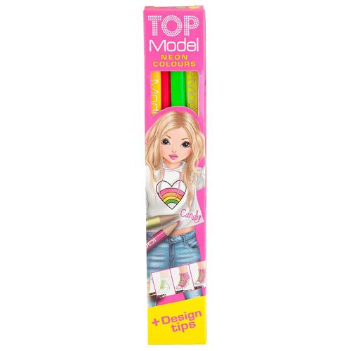 Neonové pastelky Top Model 4 barvy