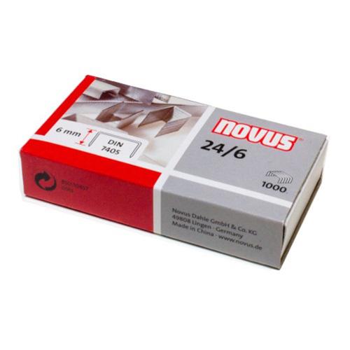 Sponky do sešívačky Novus 24/6, 6 mm, 1000 ks