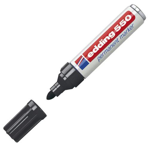 Permanentní popisovač Edding 550, 3-4 mm, černý