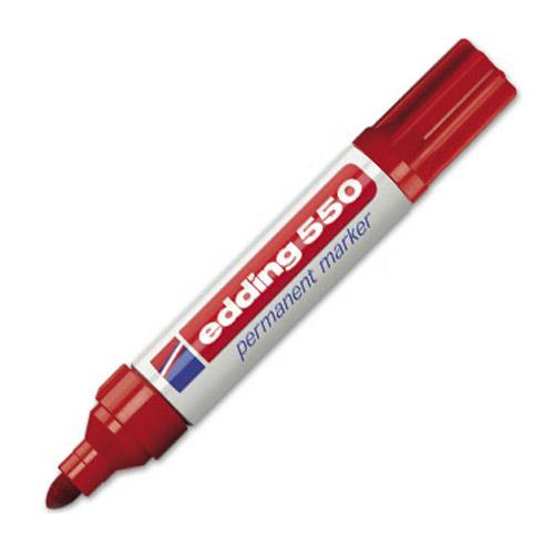 Permanentní popisovač Edding 550, 3-4 mm, červený