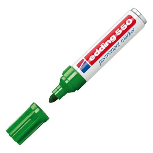 Permanentní popisovač Edding 550, 3-4 mm, zelený